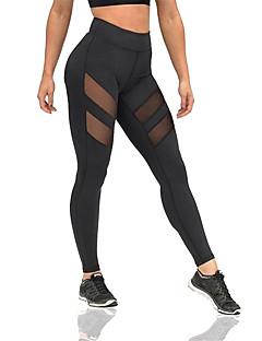 Yogabukser Bukser Pustende Komprimering Svettereduserende Bekvem Naturlig Stretch Drakter Svart DameYoga & Danse Sko Pilates Trening &