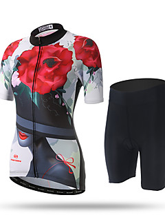 cheap Cycling Clothing-XINTOWN Women's Short Sleeves Cycling Jersey with Shorts - Black/Red Bike Shorts Jersey Pants / Trousers, Quick Dry, Ultraviolet