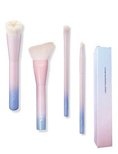 billige Sminkebørstesett-4stk Makeup børster Profesjonell Børstesett / Rougebørste / Øyenskyggebørste Syntetisk hår / Kunstig fiber børste Full Dekning / / Tre