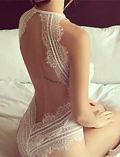 abordables -Lingerie en Dentelle Ultra Sexy Vêtement de nuit Femme,Dentelle Couleur Pleine-Mince Nylon Aux femmes