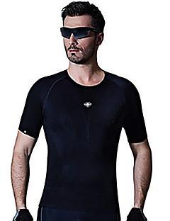 SANTIC חולצת ג'רסי לרכיבה בגדי ריקוד גברים שרוולים קצרים אופניים ג'רזי נושם 100% פוליאסטר אלסטיין טרילן קלאסי אביב קיץ סתיו ספורט פנאי