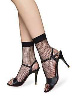 naisten verkkokankaiden sukat naarasukat, seksikäs musta keskisuurten silkkisukat, jotka on irrotettu verkosta