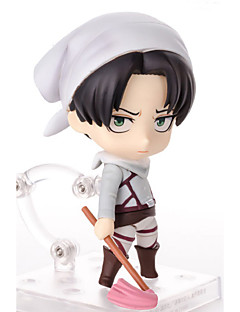 billige Anime cosplay-Anime Action Figurer Inspirert av Attack on Titan Mikasa Ackermann PVC 10 CM Modell Leker Dukke