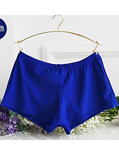 billige Bikinier og damemote 2017-Dame Store størrelser Sport Fuksia Lyseblå Marineblå Boy Leg Nederdeler Badetøy - Ensfarget XL XXL XXXL