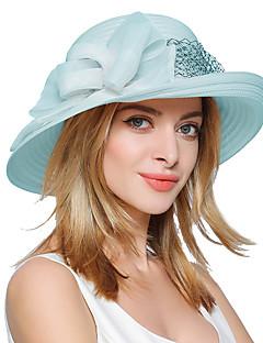 billige Trendy hatter-Dame Vintage Søtt Fest Kontor Fritid Bøttehatt Solhatt,Vår Sommer Høst Lapper Polyester Beige Lilla Lyseblå Marineblå