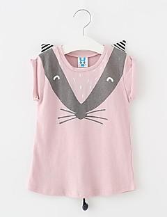 Mädchen T-Shirt Ausgehen Lässig/Alltäglich einfarbig Baumwolle Sommer Ärmellos