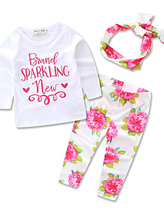 Girls' Formal Party Casual/Daily Floral Print Sets,Cotton Polyester Spring Fall All Seasons Long Sleeve Clothing Set