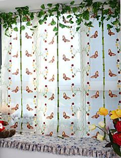 baratos Cortinas Transparentes-Único Plissado Um Painel Tratamento janela Designer Europeu Neoclassicismo Sala de Estar Poliéster Material Sheer Curtains Shades