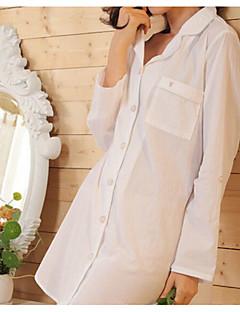 Damen Anzüge Nachtwäsche,Druck Solide-Baumwolle