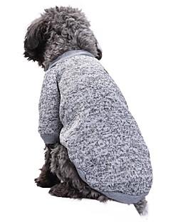 billiga Hundkläder-Katt Hund Kappor T-shirt Tröja Hundkläder Enfärgad Röd Grön Rosa Ljusblå Blå och Marin Polär Ull Cotton Kostym För husdjur Fest Ledigt /