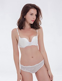 YUIYE® 3/4 cup Bras & Panties Sets Double Strap Adjustable Push-up Lace Bras Underwire Bra Fixed Straps Cotton Lace Nylon