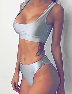 Kvinner Ensfarget Bandeau Bikini Polyester