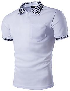 billige Herremote og klær-Skjortekrage Polo - Geometrisk Herre