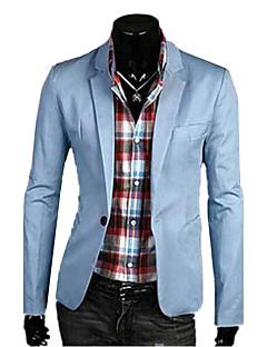 billige Herremote og klær-Lin Store størrelser Tynn Blazer - Ensfarget Forretning Enkel Herre