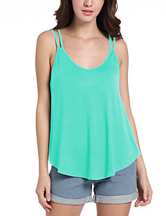 Women's Daily Going out Holiday Casual Sexy Street chic Spring Summer Tank Top,Solid Strap Sleeveless Polyester Medium