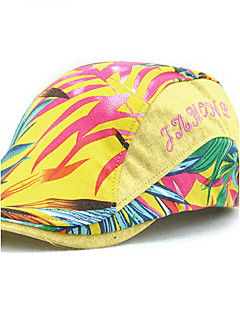 cheap Fashion Hats-Unisex Cotton Beret Hat,Vintage Casual Summer All Seasons Print Blue Black Yellow Light Blue