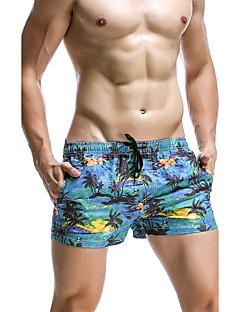 billige Herrebukser og -shorts-Herre Bohem Uelastisk Løstsittende Shorts Bukser, Mellomhøyt liv Polyester Sommer