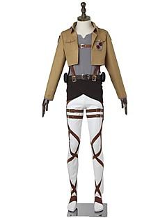 """billige Anime Kostymer-Inspirert av Attack on Titan Mikasa Ackermann Anime  """"Cosplay-kostymer"""" Cosplay Klær Mote Langermet Til Mann Kvinnelig"""