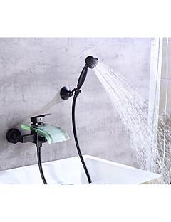 billige Foss-Badekarskran - Moderne Olje-gnidd Bronse Centersat Keramisk Ventil