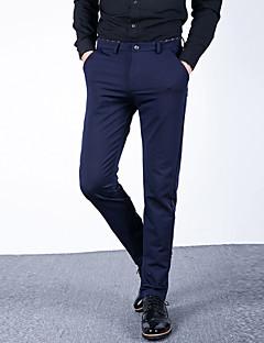 Pánské Jednoduchý Mikro elastické Provozovna Kalhoty chinos Kalhoty Štíhlý Rovné Mid Rise Jednobarevné