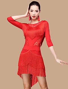 Shall We Latin Dance Dresses  Women Polyester/Lace 2 Pieces Dance Costume