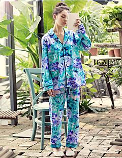 Frauen-Pyjamas-Set Druck lässig weiche Baumwoll-Hausbekleidung