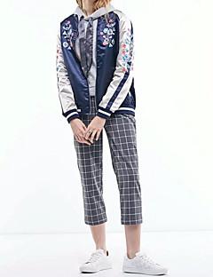 Damen Blumen Street Schick Lässig/Alltäglich Jacke,Ständer Frühling Herbst Standard Nylon