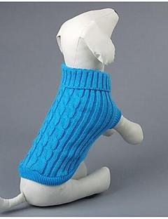 billiga Hundkläder-Hund Tröjor Hundkläder Tecknat Röd / Blå Silkesmaterial / Cotton Kostym För husdjur Herr / Dam Ledigt / vardag / Mode