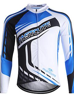 cheap -Fastcute Cycling Jersey Men's Women's Kid's Unisex Long Sleeves Bike Sweatshirt Jersey Top Quick Dry Front Zipper Breathable Soft YKK