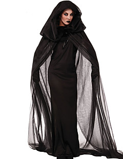 cheap -Witch Cosplay Costume Party Costume Women's Christmas Halloween Carnival Festival / Holiday Halloween Costumes Black Vintage