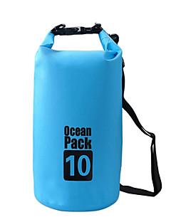 10 L Vízálló Dry Bag Vízálló zsák Vízálló Viselhető mert Mászás Úszás Tengerpart Kempingezés és túrázás