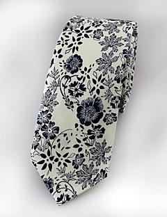 Men's Cotton Neck Tie,Vintage Cute Party Work Casual Jacquard All Seasons Beige