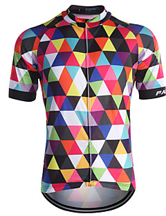 cheap Cycling Jerseys-Fastcute Men's Short Sleeve Cycling Jersey - Rainbow Bike Jersey, Quick Dry, Breathable, Sweat-wicking Coolmax®