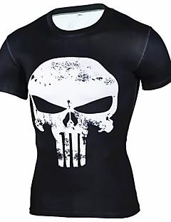 Homme Tee-shirt de Course Manches Courtes Respirable Doux Confortable Tee-shirt Hauts/Top pour Exercice & Fitness Course/Running Coton
