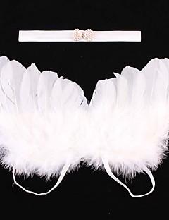 tanie Akcesoria dla dzieci-Komlety salik, czapka i rękawiczki - Dla obu płci - Na każdy sezon - Inne Organic Cotton Trykot - Opaski na głowę - White