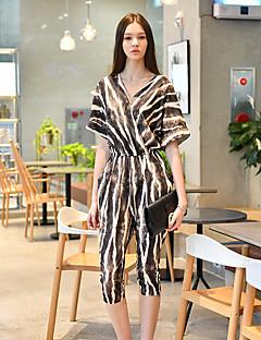 Damă Zvelt Harem Sexy Vintage Șic Stradă Talie Inaltă,Petrecere Ieșire Club Salopete Amestec de culori Zvelt Cruce Modă Leopard Imprimeu