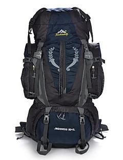 billiga Ryggsäckar och väskor-85 L Ryggsäckar / Ryggsäck - Vattentät, Bärbar, Multifunktionell Utomhus Camping, Fritid Sport, Resa Ljusblå, Mörkblå, Armégrön