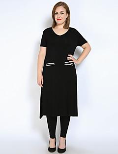 cheap Women's Tops-Really Love Women's Active Plus Size T-shirt - Color Block Split