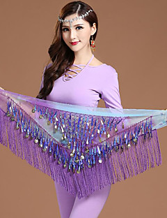 cheap Dance Accessories-Belly Dance Hip Scarves Women's Training Chiffon Gold Coin Christmas Decorations Halloween Decorations Princess Pirates Sexy Maids &