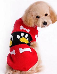 billiga Hundkläder-Hund Tröjor Hundkläder Tecknat Röd Rosa Silkesmaterial Cotton Kostym För husdjur Herr Dam Ledigt/vardag Mode