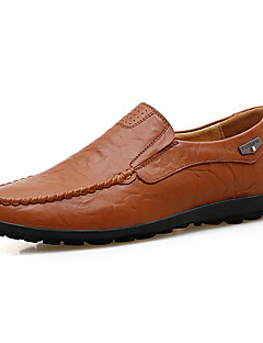 ieftine -Bărbați Pantofi Piele Primăvară / Toamnă Confortabili Mocasini & Balerini Negru / Maro Deschis / Maro Închis