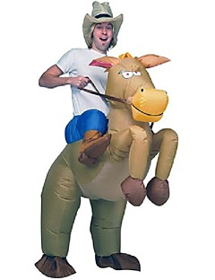 billige Halloweenkostymer-Riding A Donkey Cosplay Kostumer / Halloween Utstyr / Maskerade Film-Cosplay Trikot / Heldraktskostymer / Air Blower Jul / Halloween /