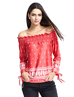 Χαμηλού Κόστους New Colorful Season-Γυναικεία T-shirt Κομψό στυλ street Χαμόγελο Σουρωτά Στάμπα