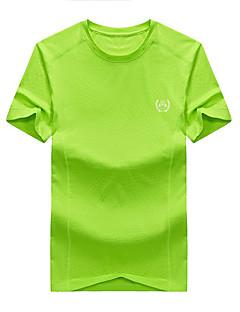 Homens Camiseta de Trilha Respirável Camiseta Blusas para Pesca Verão XXL XXXL XXXXL 4XL 5XL