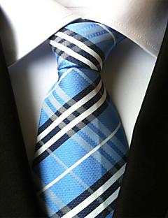 Men's Polyester Neck Tie,Vintage Party Work Casual Striped All Seasons Gray Purple Light Blue Khaki Royal Blue