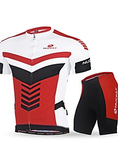 cheap Cycling Clothing-Nuckily Cycling Jersey with Shorts Men's Short Sleeves Bike Clothing Suits Quick Dry Ultraviolet Resistant Breathable Soft Reflective