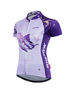 billige Sykkeljerseys-Malciklo Dame Sykkeljersey Sykkel Jersey Klessett Polyester