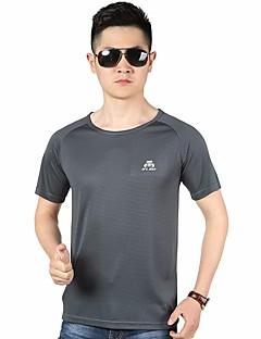 tanie Koszule turystyczne-Męskie T-shirt turystyczny Na wolnym powietrzu Top Bieganie