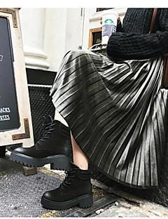 Damen Ausgehen Midi Röcke Schaukel einfarbig Gestreift Frühling