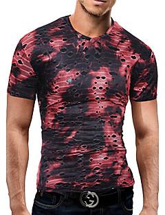 メンズ カジュアル 夏 Tシャツ,ヴィンテージ ストリートファッション ジュエル カモフラージュ コットン 半袖